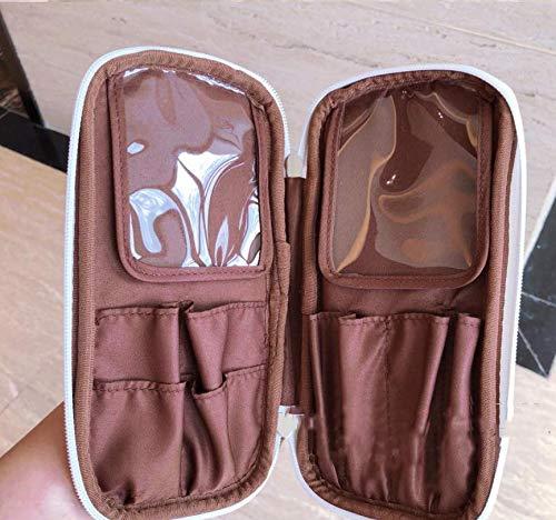 Simmia Boîte de Rangement pour Maquillage avec Compartiments, Design Transparent, Support pour pinceaux de Maquillage, Sac de Rangement pour pinceaux de Maquillage Blanc