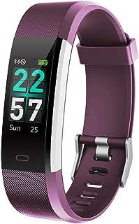 WFDLIU Rastreadores De Actividad, 0.96 Color Pantalla Fitness Pulsera, Pulsera Actividad con Pulsómetro Mujer Hombre, Monitor De Actividad/Podómetros/Pulsera Inteligente A Prueba De Agua,Purple