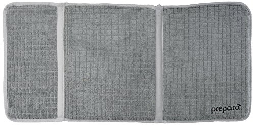 Prepara Gray Drydock Dish Drying Mat Extra Large