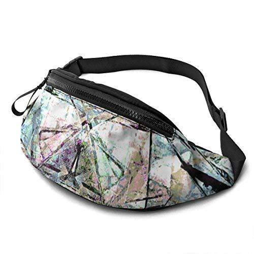 XCNGG Bolso de la cintura del ocio bolso que acampa bolso del montañismo Colorful Eyes Waist Pack Bag for Men Women,Casual Fanny Packs with Headphone Socket Hip Bum Bag for Traveling Hiking Cycling Cr