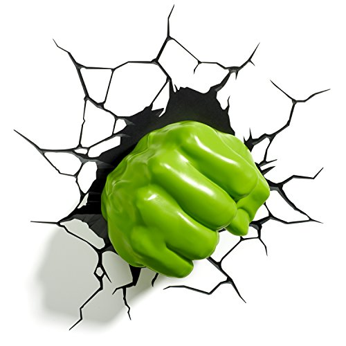 3DLightFX Marvel Avengers Hulk Fist 3D Deco Light