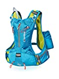 COLUMBUS Vann 4 Chaleco de hidratación, Unisex Adulto, Azul/Amarillo Fluorescente, Talla Única