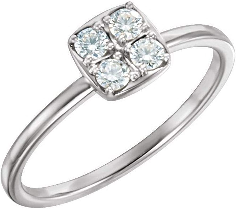 Solid Platinum 1/4 Cttw Diamond Stackable Wedding Anniversary Ring Band (.25 Cttw) (Width = 6.3mm)
