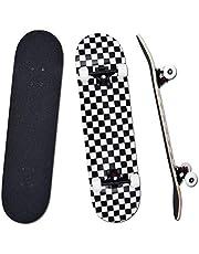 YUDOXN Skateboard Complet pour débutants, Adolescents, Enfants 31 x 8 Skateboard 7 Couches en Bois d'érable avec roulements ABEC-7 Planche de Skateboard Longboards