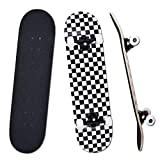 "YUDOXN Completo Skateboard para Principiantes, Adolescentes, niños, niñas.31""x 8"" Skateboard 7 Capas Monopatín de Madera de Arce con rodamientos ABEC-7 Tabla de Skateboard, Longboards"