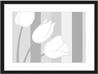Wood Framed Canvas Artwork Home Decore Wall Art (Black White 20×14 inch) –..