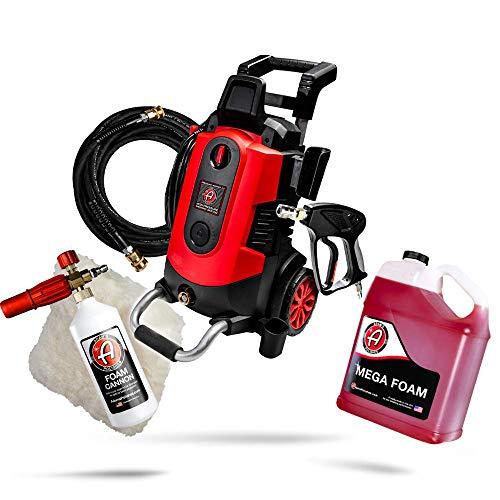 Adam's Electric Pressure Washer Car Wash Kit - Powerful 1.8 GPM 2500 PSI | Snub Nose & Tip...