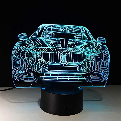 Creative 3D LED Car 7 Color Changing Lamp Visual 3D Christmas Night Light Bedroom Girls Boys Toy Fri