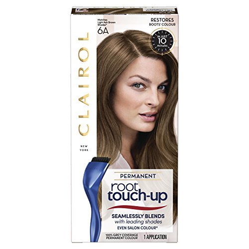 Clairol Root Touch-Up Permanent Hair Dye, 6A Light Ash Brown, Full Coverage and Easy Application, 50 ml