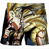 Natación Pantalones Cortos Moda Anime 3D Shorts Hombres Dragon Ball Super Goku Print...