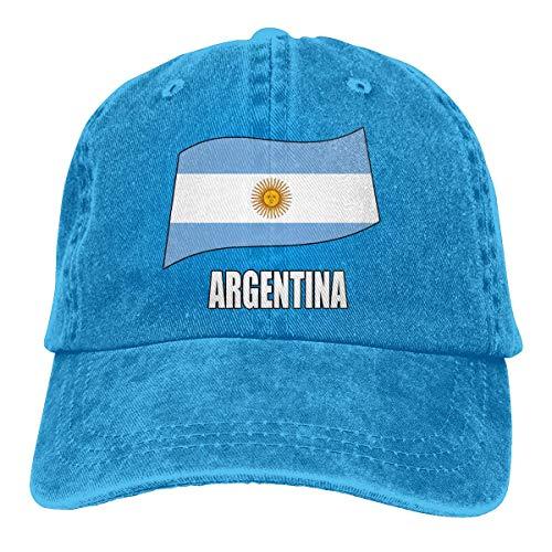 FGHGF Argentijnse vlag mannen vrouwen verstelbare honkbal caps garen-geverfde denim pap