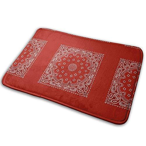 Carolina Bandanas Bath Mat Doormat Rug, Anti-Slip Carpet for Indoor Outdoor...