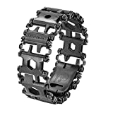 LEATHERMAN, Tread Bracelet, The Original Travel Friendly Wearable Multitool, Built in the USA, Black
