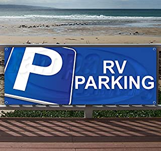 RV Parking 13 oz Heavy Duty Vinyl Banner Sign with Metal Grommets, New, Store, Advertising, Flag, (Many Sizes Available)