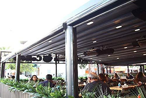 NAO - Pérgola de bajo Techo retráctil Impermeable (4 m x 3, 5 m): Amazon.es: Jardín