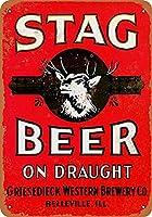 スタッグビール錫サイン壁の装飾金属ポスターレトロプラーク警告サインオフィスカフェクラブバーの工芸品