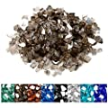 onlyfire 10 Pounds Reflective Tempered Fire Glass for Natural or Propane Fire Pit Fireplace & Landscaping, 1/4-Inch High Luster Bronze