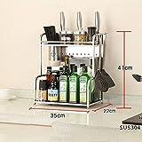 SLINGDA Scaffale da Cucina - Scaffale per condimento Scaffale per condimento/Scaffale di s...