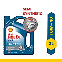Shell Helix HX7 550039120 10W-40 API SN Synthetic Technology Car Engine Oil (3 L),Shell India Markets Pvt ltd,550039120,550039120