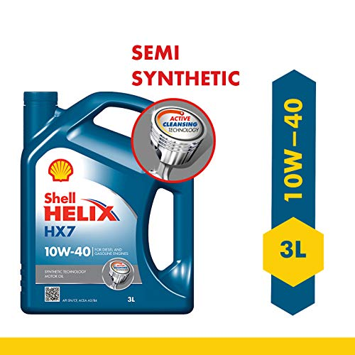 Shell Helix HX7 550039120 10W-40 API SN Synthetic Technology Car Engine Oil (3 L)