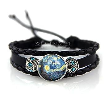 WUSHIMAOYI Tardis Doctor Who Starry Night Bracelet Personalized Bracelet Van Gogh Bracelet Doctor Who Bracelet Tardis Bracelet Minimalist Jewelry Gifts