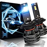 NINEO H7 LED Headlight Bulbs w/Small Size,10000LM 6500K Cool White CREE Chips All-in-One Conversion Kit