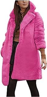 Womens Winter Teddy Bear Faux Fur Coat Jackets Ladies Warm Jumper Outwear Windbreaker Jacket Pea Coat Trench
