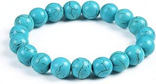 SLMCLUB 10Mm White Tiger Eye Lava Crystal Beaded Stone Bracelet For Women Men Jewelry
