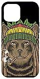 iPhone 12 Pro Max Rastafarian Cat Marijuana Rasta Kitten Cannabis Weed 420 Case