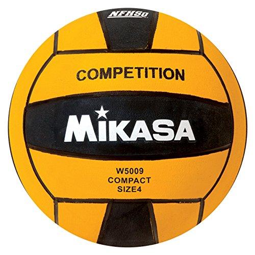 Mikasa W5009BLA - Pallone da competizione, colore: Nero/Giallo, misura 4