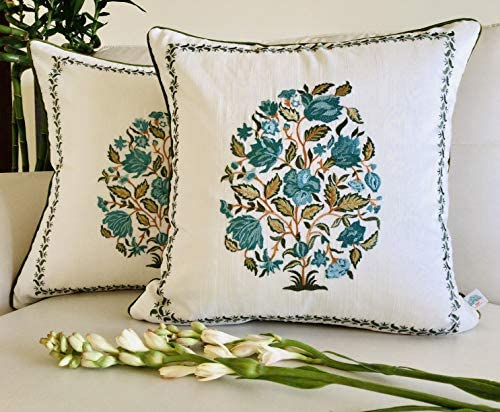 TARA Sparkling Homes Embroidered Decorative Throw Pillow Cases Cushion Cover for Sofa Couch product image