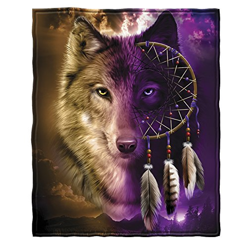 Dawhud Direct Wolf Dreamcatcher Super Soft Plush Fleece...