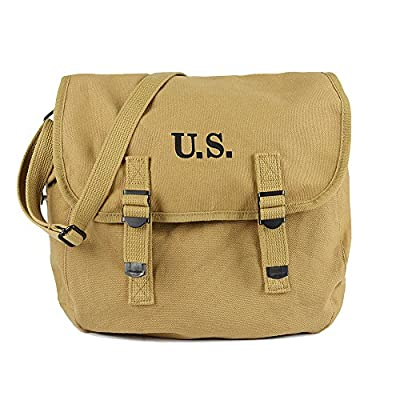 Gas Mask Model: WW2 US Army M6 Gas Mask Carry Bag Lightweight Service Khaki Canvas - Bag Only from Oleader :: Gas Mask Bag :: Army Gas Masks :: Best Gas Mask