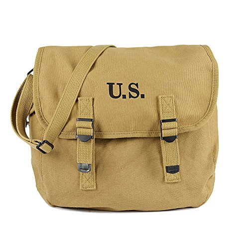 SMONT WW2 US M1936 Haversack Musette Field Bag with Shoulder Strap Military M36 Messenger Bag