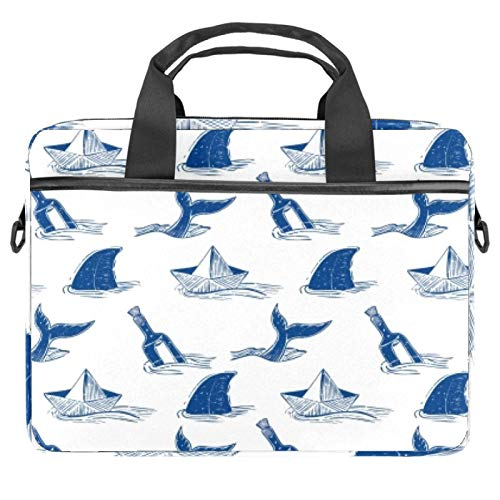 Laptop Tote Bag Computer Rucksack Compatible with Chromebook, MacBook Pro Shark Anchor