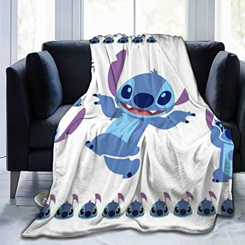 FASHIONDIY Lilo Stitch Blanket Oversized Warm Adult Super Soft Blanket With Soft Anti-pilling Flannel For Adults & Kids 3D Print 50'x40'
