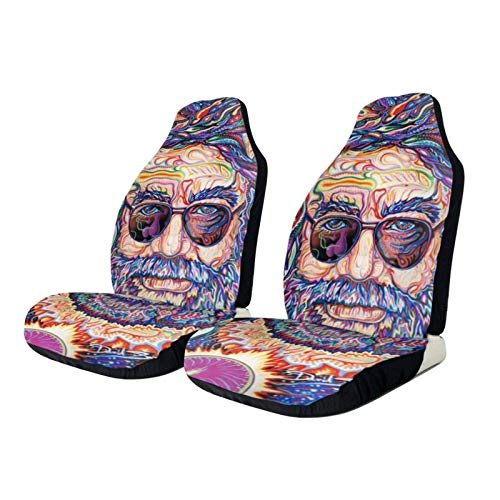 AUCHUIXBFB Grate-Ful Dead Steal Your Face Universal Car Seat Covers Fits Most Cars, Truck, SUV Or Van 1 Pcs