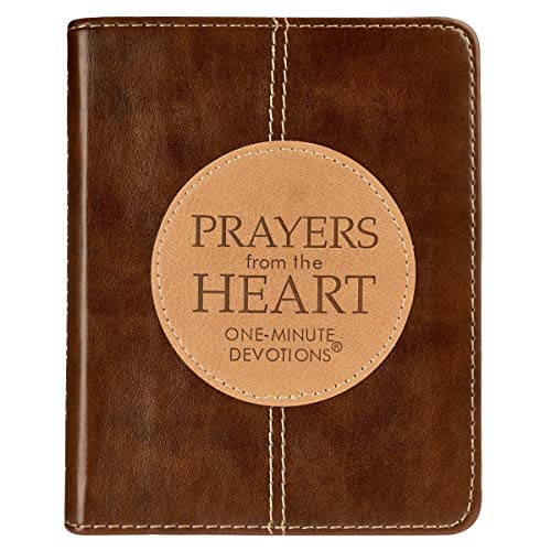 Prayers from the Heart: One-Minute Devotions (LuxLeather)