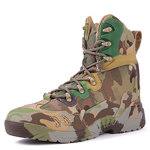 YLiansong-home Botas de Montaña Zapatos de Trekking de Camuflaje de Escalada al Aire Libre Botas de Invierno Magnum Negro Hombres Senderismo para Cazar, Caminar (Color : Multi-Colored, Tamaño : 39)