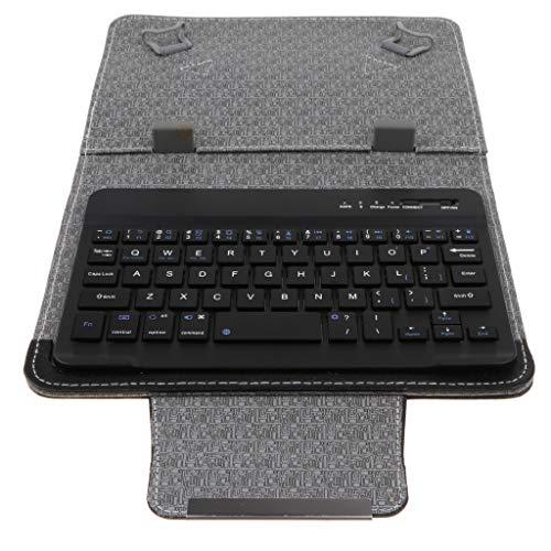 D DOLITY - Funda con Teclado USB para Tablets de 7-10 Pulgadas (Incluye Cable de Datos)