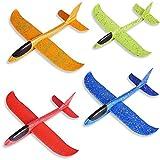 ZoneYan Planos de Espuma, 4Pcs Aviones de Corcho, Avión Planeador, Avión de Lanzamiento, Juguete Planeador Espuma, Lanzar Manual Planeador, Deportes Al Aire Libre Volar Juguete