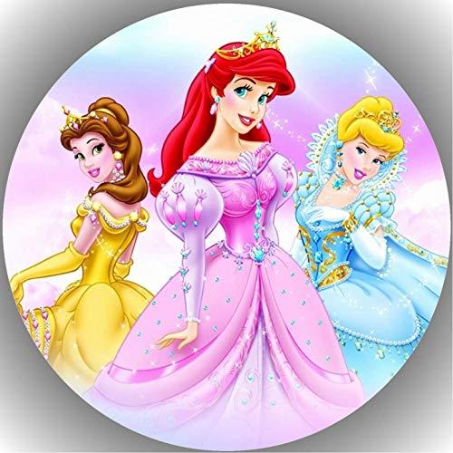 Oblea de papel de alta calidad para tarta, diseño de princesas Disney K8