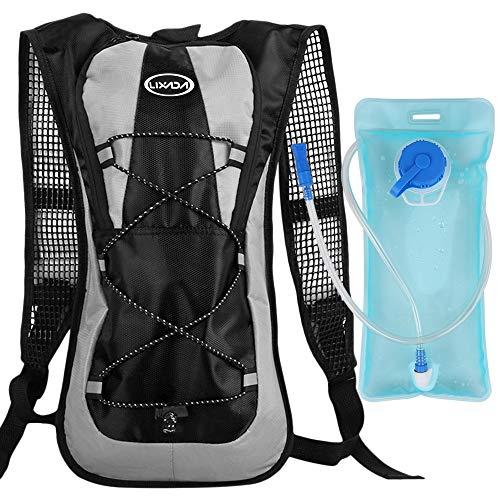 Lixada Trinkrucksack Hydratation Rucksack Fahrradrucksack mit 2L Wasserblase für Camping Wandern Reiten Klettern Laufen