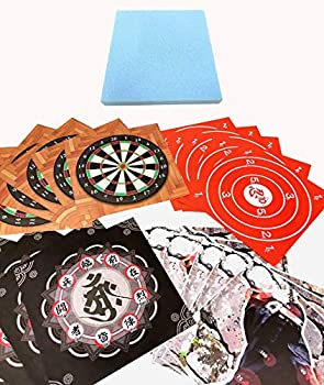 Throwing Star Foam Board for Ninja Rubber  Stars Sold Separately !!!  Replacement Set for Our Popular Target Set