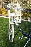 Kinderfahrradsitz Fahrradsitz aus Weide in weiß für den Fahrradlenker mit/ohne Kissen (ohne Kissen)
