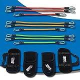GTrain Cardio Bandz Set - Resistance Bands Set - 9X Exercise Bands - Tension Bands Exercise Set - Ankle Resistant Bands - Wrist Cuffs