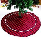 Gonne Per Alberi Di Natale Gonne Rosse Per Alberi a Scacchi 120 cm Copri Per Gonne Alberi Rustici Decorazioni Per Alberi Di Natale Decorazioni Natalizie (rosso, 120 cm)
