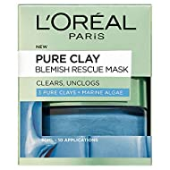Unclogs blackheads and leaves the skin pure and fresh without drying it out A powerful blend of three Pure Clays with Marine Algae Apply in spots or all over blemish-prone skin. Skin is fresh, pores are shrunk and blemishes are reduced L'Oréal Paris ...