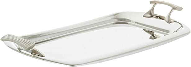 Regent Stainless Steel Onda Rectangular Tray - Silver