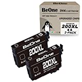 BeOne Remanufactured Ink Cartridge Replacement for Epson 200 XL 200XL T200 T200XL Black 2-Pack to Use with Workforce WF-2540 WF-2530 WF-2520 Expression Home XP-200 XP-410 XP-310 XP-400 XP-300 Printer